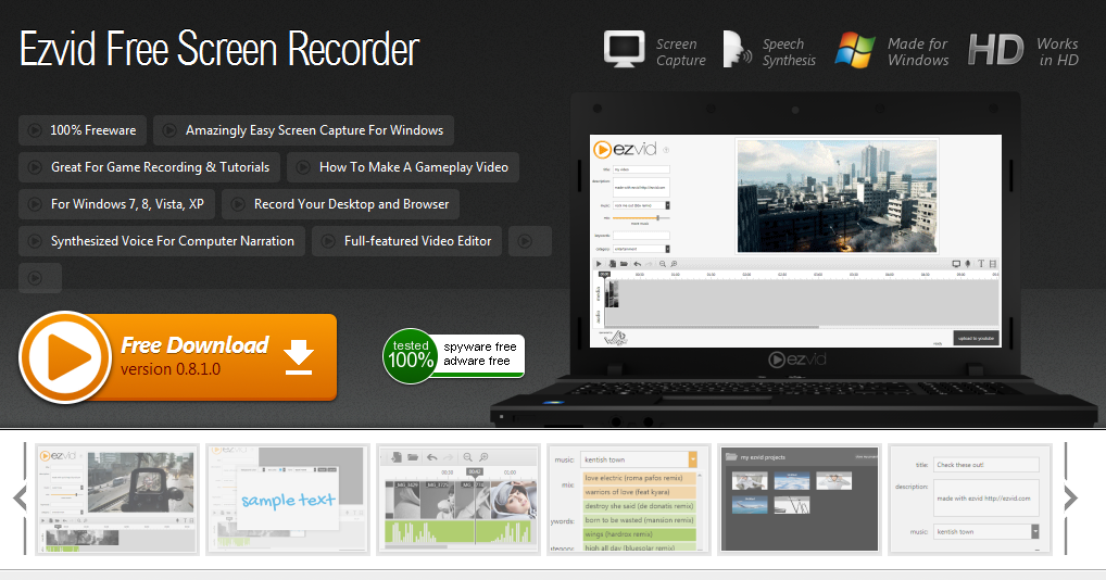 Bandicam screen recorder free download.