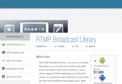 iOS & Android RTMP RTSP Library Dowload
