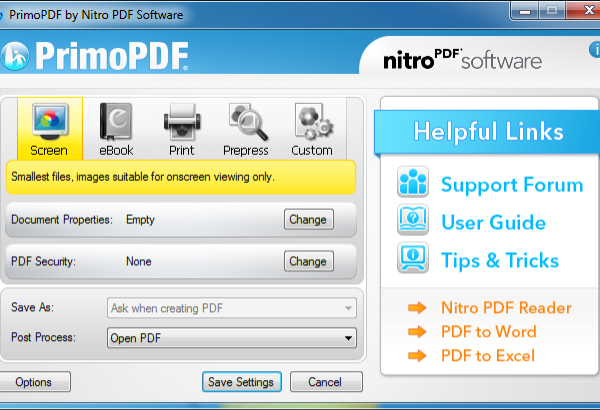 PrimoPDF Software Download for Windows 7,8.1