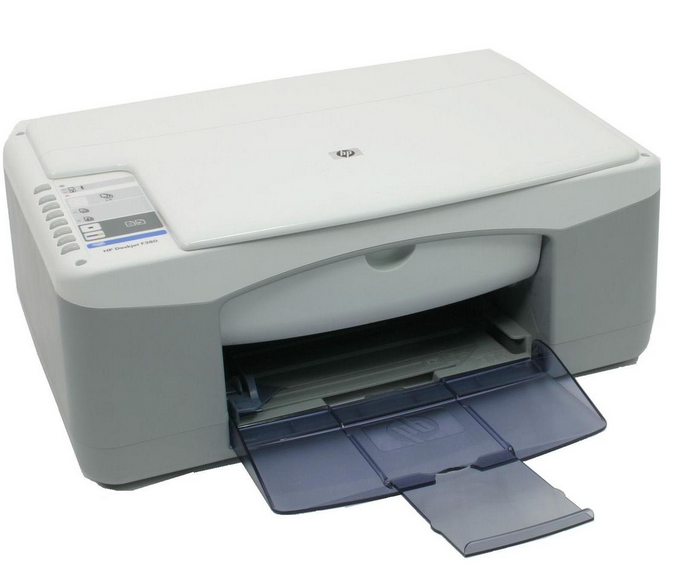 Blinking lights on the hp deskjet f300 all-in-one printer series.