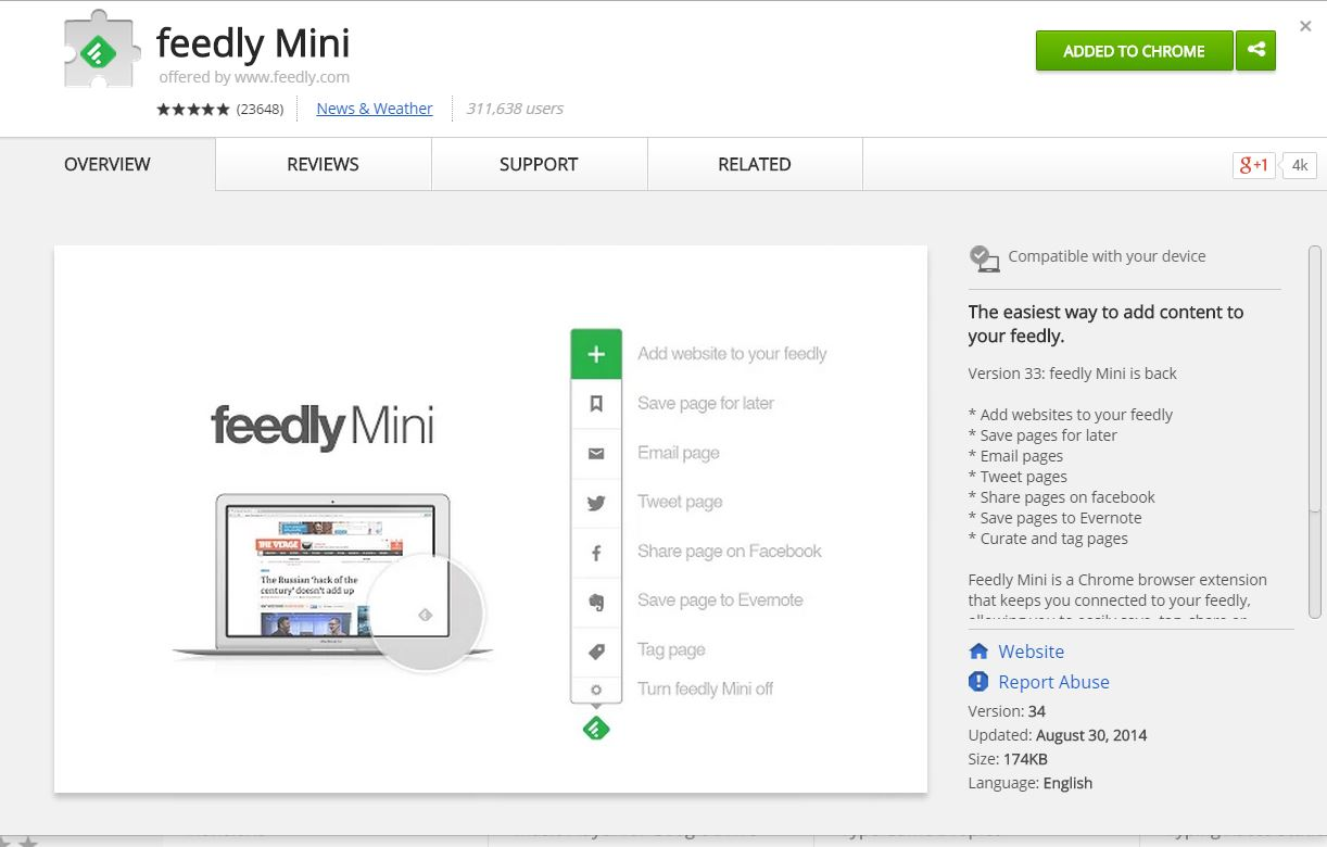 Feedly Chrome Extension Download