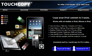 TouchCopy Software